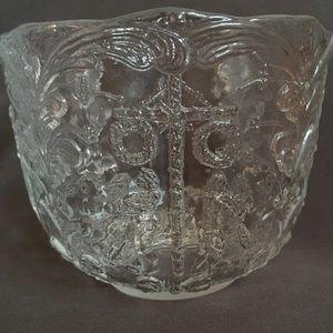 Vtg 1970 kosta boda swedish vase crystal mold